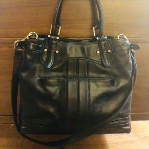❤️SaLe Large Black Leather Cole Haan Bag❤️